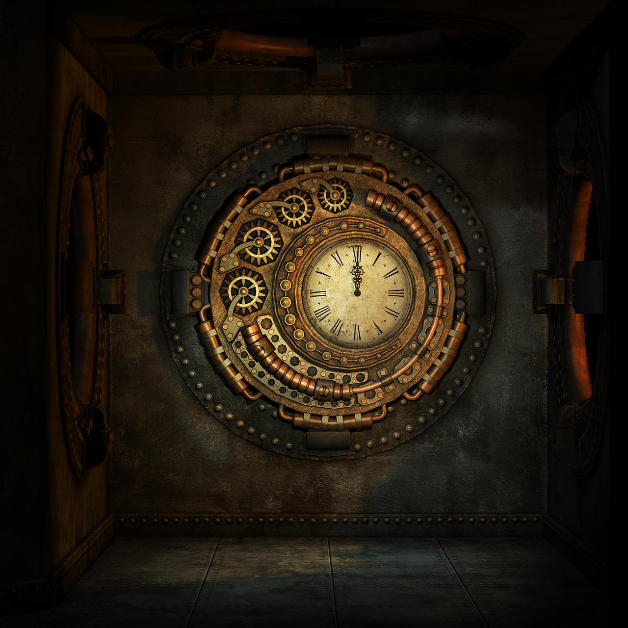 steampunk-clock1636156_1280